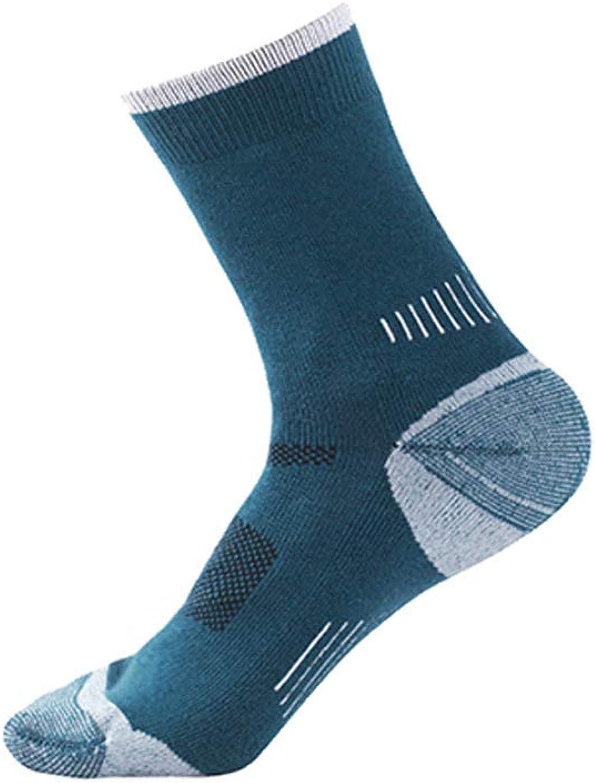 MultiFunctional Men's Merino Wool Hiking Socks Outdoor Moisture Wicking Running Warm Socks Men's Socks Outdoor Socks (color   C(5pairs), Size   Men One Size)