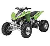 Orange Cycle Parts 1:12 Scale TOY Green Kawasaki KFX 450R ATV 4-Wheeler Die-Cast Replica by NewRay 57503