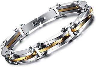 77a4092aae6d Amazon.es: pulseras plata baratas - Pulseras / Hombre: Joyería