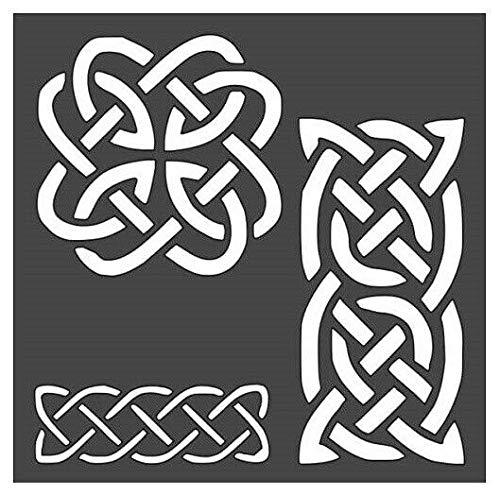 Stencil Celtic Knot Designs Logo Reusable Sturdy Flexible Clear Thin Plastic HKaStore 0589