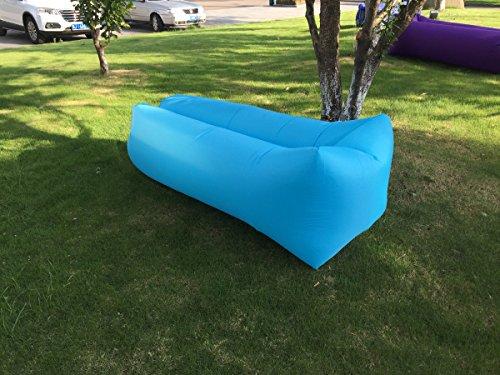 JD Bug Chaise longue gonflable avec sac de transport pour la plage, le camping, la plage, le parc, le jardin - Imperméable et durable