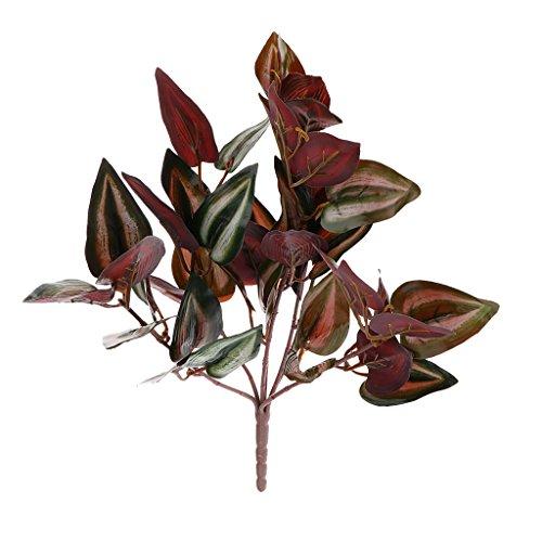 Serenable Folhas de Seda de Relva Artificial de Plástico Roxo, Decoração de Festa de Casamento