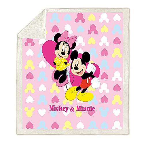 SSLLC Disney Mickey & Minnie - Manta de franela de microfibra reversible 3D para niños, para sofá, cama, sofá, salón, C12, 150X200CM