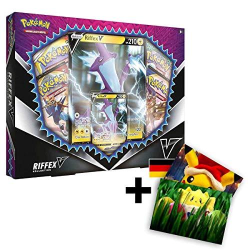 Lively Moments Pokemon Karten Riffex V Kollektion / Edition Deutsch DE / Sammelkartenspiel Toxtricity + Exklusive GRATIS Grußkarte