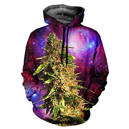 FGVBWE4R Harajuku Herren Kapuzenpullover 3D-Druck Coral Weed Galaxy Hoodie Männer Hiphop Pullover Outfits Casual Paar Sweats Tops Zeigen, M