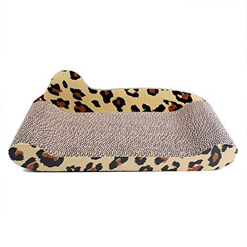 LKJDS Kratzbaum für den Innenbereich, Leopardenmuster, langlebig, Katzenspielzeug, Ball (inklusive Katzenminze)
