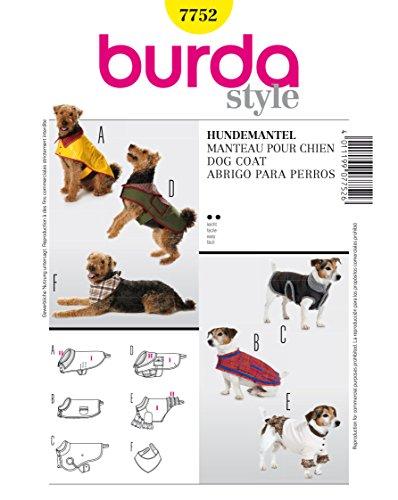 Burda Schnittmuster Mantel B7752Für Hunde (19x 13cm)