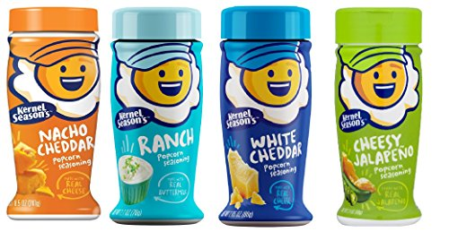 Why Should You Buy Kernal Season's Popcorn Seasoning 4 Flavor Variety Pack: 1 White Cheddar (2.85oz)...