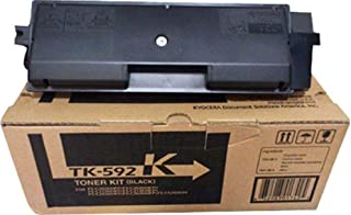 Kyocera TK-592K 1T02KV0US0 C5250DN C2026MFP C2126MFP Toner Cartridge Kit (Black) in Retail Packaging