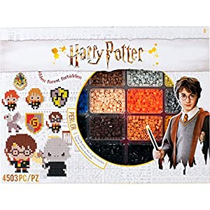 Includes (4000) Perler Harry Potter theme fuse beads, (1) pegboard, (1) ironing paper, and (1) pattern sheet with instructions. Comes with 19 Perler Harry Potter bead patterns. For ages 12+. Adult help and supervision required when ironing. Create yo...