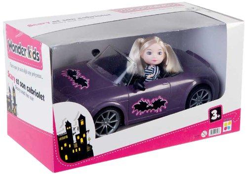 WDK PARTNER - A1300022 - Poupées et mini-poupées - Poupée Scary et son Cabriolet