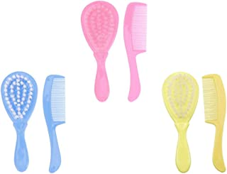 ULTNICE 6pcs/ 3 Sets Baby Hair Brush and Comb Set for Newborns Toddlers Baby Bathing Brush Baby Hair Comb Children Massage...