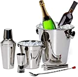 ULTIMATE BAR SET FOR A FUN COCKTAIL PARTY: Our professional grade bartending kit has everything you need to keep drinks cool and mix, stir and shake tasty drinkable treats for all your guests. Our 6 piece bar set includes a leak-proof 20 oz Cocktail ...