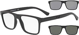 نظارات شمسية من امبوريو ارماني EA 4115 F مقاس آسيوي 58011W أسود مطفي