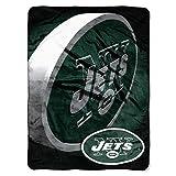 The Northwest Company NFL New York Jets Bevel Micro Raschel Throw Blanket, 60' x 80'