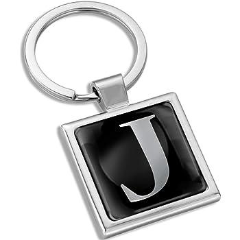 Biomar Labs Schlüsselanhänger Buchstabe Metall Keyring Buchstaben Initialen Alphabet Autoschlüssel Geschenk Metall Schlüsselanhänger Schlüsselbund Edelstahl Silber J Kk 10 Koffer Rucksäcke Taschen