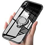 iPhone XS ケース iPhone X ケースリング クリア 透明 耐衝撃 全面保護 磁気カーマウントホルダー スタンド 柔らかい殻 ケース 車載ホルダー対応 薄型 軽量 TPU 滑り防止 黄変防止