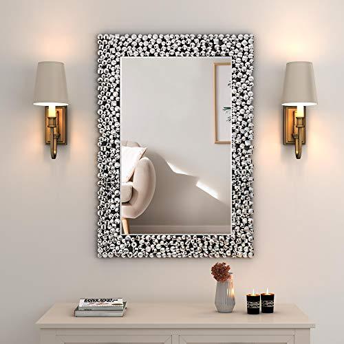 MUAUSU Decorative Wall Mirror - Large Rectangle Accent...