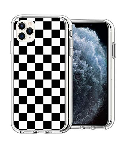 Case Phone Clear Anti-Scratch Motion Limited Edition Black Checkered Cases for iPhone 11 Pro Max 6.5'
