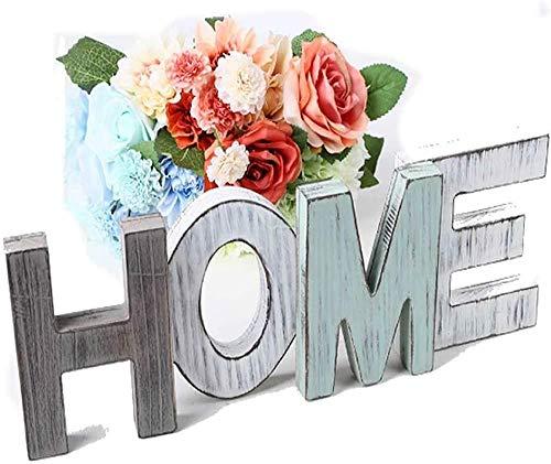 Scritta di Design Home, Lettere di Legno Decorative, Lettere di Legno Love Segno Artigianato Rustico Vintage, Grande Lettera in Piedi per Matrimonio Soggiorno Camera da Letto Foto di Sfondo