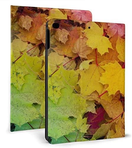 Resumen Fall Leaves PU Funda Inteligente de Cuero Función Auto Sleep / Wake para iPad Mini 4/5 7.9 'y iPad Air 1/2 9.7' Funda