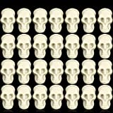 100 Pieces Mini Plastic Skull Decorations Plastic Skeleton Head for Halloween Bar Home Table Decoration Trick Toy Accessories Party