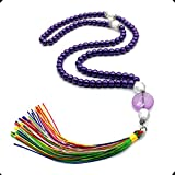 ALBATROSART Special for Woman Prayer Beads Series -99 Beads- Tesbih-Tasbih-Tasbeeh-Misbaha-Masbaha-Subha-Sebha-Sibha (Purple Pearl Prayer Beads (6 mm 99 Small Beads))