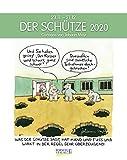 Schütze 2020: Sternzeichenkalender-Cartoonkalender als Wandkalender im Format 19 x 24 cm.