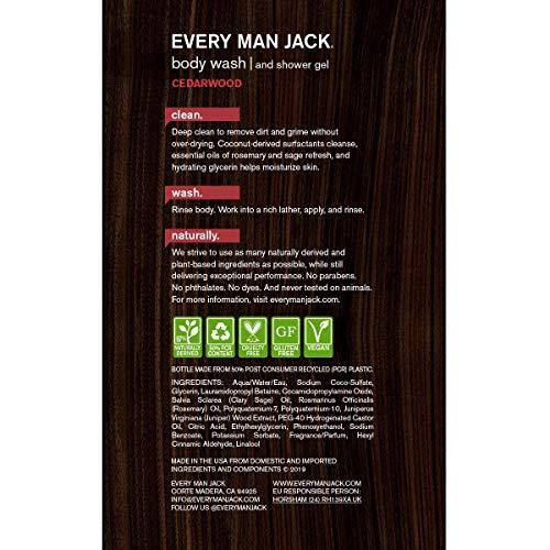 chaque Homme Jack pour le corps et gel douche Bois de Cèdre, 479,1gram