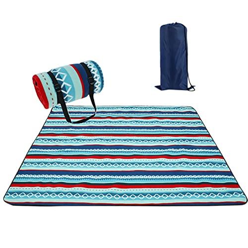 SONG Outdoor Faltbare wasserdichte Picknickmatte Mode Verdicken Pad Atmungsaktiv weiche tragbare Camping Reise Stranddecke