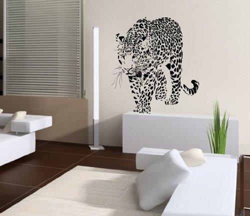 Wandtattoo Leopard Nr.131 Wandaufkleber Wandmotiv (Größe: 64cm x 58cm)