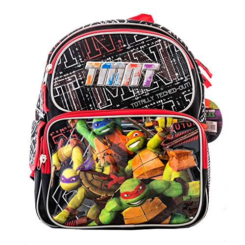 3D TMNT Teenage Mutant Ninja Turtle Backpack or Lunch Box Book Bag Game Travel Everyday bag pouch Package with Pencils (12 Inch)