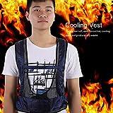 Durable Cooling Vest, Tube Freely Adjustable Blue Air Compressed Cooling Vest, Comfortable High