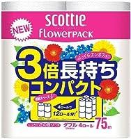 日本製紙クレシア スコッティ フラワーパック 3倍長持ち ダブル (内容量:4巻) ×10点セット (4901750227302)