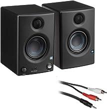 "PreSonus Eris E3.5 3.5"" 2-Way 25W Nearfield Monitors (Pair) with 3' Y & Insert Cable Bundle"