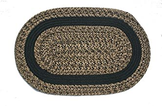 product image for Oval Braided Rug (2'x3'): Charles Blend - Black Band