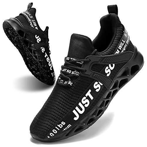 Women's Running Shoes Non Slip Athletic Tennis Walking Blade Type Sneakers Black