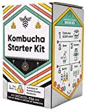 Craft A Brew Starter Complete Kombucha Making Kit, Including 1 gallon glass jar, SCOBY, Tea, Sugar and Guide to Brewing, Multicolor