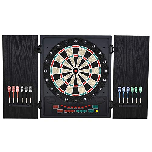 HOMCOM Electronic Hanging Dartboard Set 27 Games and 202 Variations with 12...