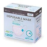アイリスオーヤマ ディスポーザブル プリーツ型マスク ふつうサイズ 120枚入 20PN-120PM