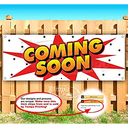 Burritos Now Open Extra Large 13 Oz Heavy Duty Vinyl Banner Sign with Metal Grommets Flag