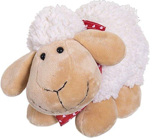 Bieco Plüsch Schaf Polly | Größe ca 33 cm | Baby Kuscheltiere | Baby Spielzeug | Kuscheltier Baby | Baby Einschlafhilfe | Kuscheltiere für Babys | Stofftier Baby Einschlafhilfe | Kuscheltier Schaf