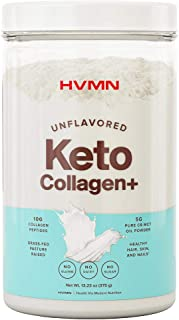 H.V.M.N. Keto Collagen+ Protein Powder: Collagen Supplement With Collagen Peptides & Mct Powder - Keto Diet Approved - 25 ...