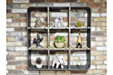 Style-A-Room Vintage Distressed Industrial Braun und Silber Grau Wand Regal Display...