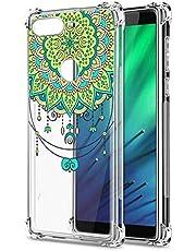 Oihxse Cristal Compatible con Samsung Galaxy M10 Funda Transparente TPU Silicona Estuche Airbag Esquinas Anti-Choque Anti Rasguños Diseño Rosa Flower Caso (Flores B2)