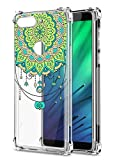 Oihxse Cristal Compatible con Samsung Galaxy A60/M40 Funda Transparente TPU Silicona Estuche Airbag Esquinas Anti-Choque Anti Rasguños Diseño Rosa Flower Caso (Flores B2)