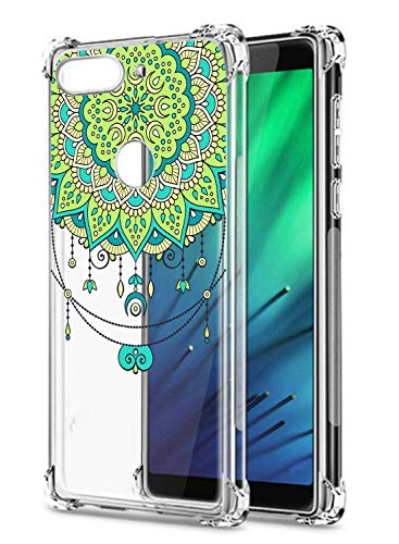 Oihxse Cristal Compatible con Samsung Galaxy J730/J7 Pro Funda Transparente TPU Silicona Estuche Airbag Esquinas Anti-Choque Anti Rasguños Diseño Rosa Flower Caso (Flores B2)