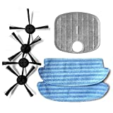 PUCRC50 Vacuum Cleaner Replacement Parts - Extra Brushes, Dust Filter and Microfiber Mop for Pyle PUCRC50 Pure Clean Smart Robot Vacuum Cleaner - Pyle PRTPUCRC5010