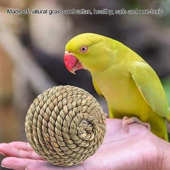 HEEPDD Jouet Lapin, Balle pour Lapin Balle De Paille d'herbe Naturelle Boule De Graisse Jouet pour Lapin Nain Jouet Lapin à Ronger