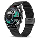 Tagobee Smartwatch Orologio Fitness Uomo Donna,Elegante Acciaio Smart Watch Bluetooth Digitale Cardiofrequenzimetro da polso Contapassi Impermeabile IP67 Sportivo Activity Tracker Per Android ios